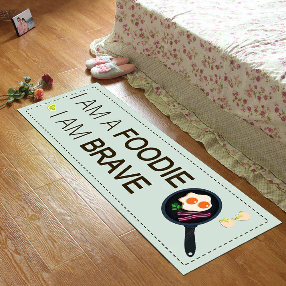 COLORMIX 50X160CM Kitchen Floor Mat Simple Letters Pattern Rectangle Soft Antiskid Mat