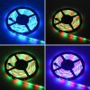 HML 2pcs x 5M 24W Waterproof RGB 2835 SMD 300 LED Strip Light with IR 24 Keys Remote Control+ DC Adapter ( EU Plug ) - RGB