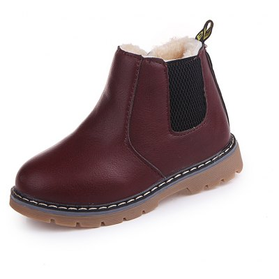 Buy BURGUNDY 25 Autumn Winter Top Selling Boys Martin Boots Kids for $28.03 in GearBest store