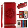 Luxury Retro Mandala Flip Leather Case For Samsung Galaxy J7 Prime /On 7 - RED