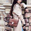 SITIYA Small Square Leather Crossbody Monederos Mujeres Bolsos de hombro - MARRóN