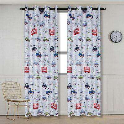 Buy Grommet Top Cartoon Blackout Car Curtains for Family Children Bedroom Living Room COLORMIX 54 for $88.71 in GearBest store