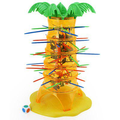 Buy YELLOW Parent-Child Interactive Board Game Skip Monkey Falling Fancy Interesting Toys for $5.99 in GearBest store