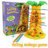 Parent-Child Interactive Board Game Skip Monkey Falling Fancy Interesting Toys YELLOW