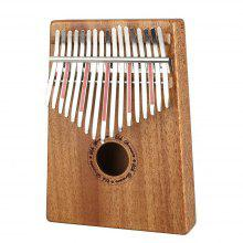 17 Sound Finger Piano Mahogany Wood Simple Portable Instrument