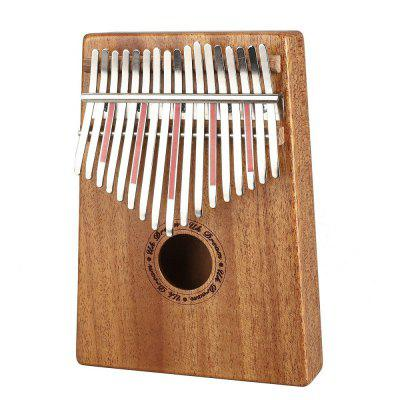 17 Sound Finger Piano Acacia wood Instrumento portátil simple