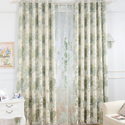 Korean Pastoral Style High-End Mahjong Blackout Curtains Grommet 2PCS
