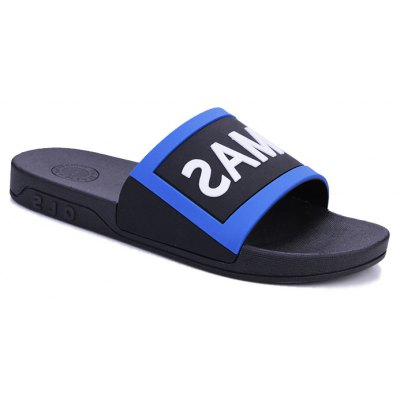 Buy BLACK AND BLUE 41 Men's Home Comfort and Anti-skid Slippers for $28.52 in GearBest store