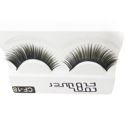 1 Pair The Thick Black Eye end Spin False Eyelashes