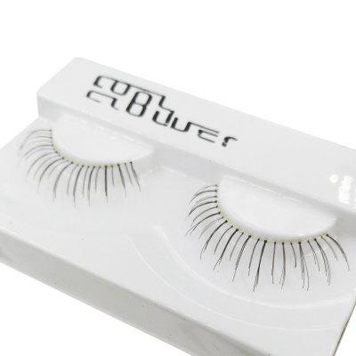 1 Pair Black Natural Long Transparent Terrier False Eyelash