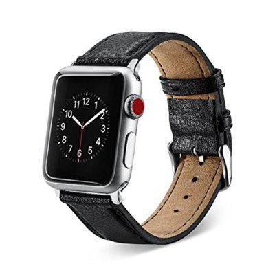 Buy 38mm Premium Genuine Leather Strap Classic Replacement with Secure Buckle Adapter for iWatch Series 3 / 2 / 1, BLACK, Consumer Electronics, Smart Watch Accessories for $11.79 in GearBest store