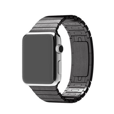 Buy BLACK 42MM Luxury Stainless Steel Link Bracelet for Apple Watch Band Series 3 2 1 Stainless Metal Strap for $33.75 in GearBest store