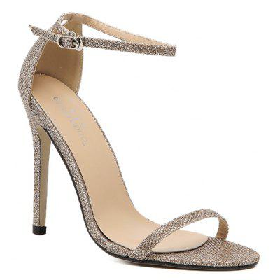 The Rubber Sole of The Lady Has A High Heel and Sandals