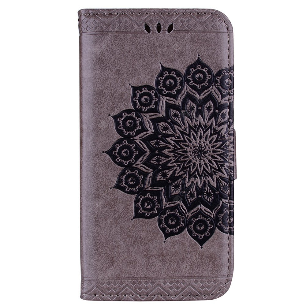 Datura Flowers Flip Phone Case for Samsung Galaxy J3 2015 / 2016 Wallet Leather Case for Samsung J300 J310 Cover Case