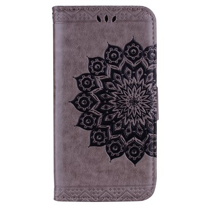 Datura Flowers Flip Phone Case for Samsung Galaxy J7 2017 J730 EU Version Wallet Leather Case Cover Phone Bag with Stand