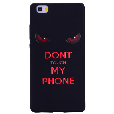 Red Eye For Huawei P8 lite Fashion Cartoon Relief Soft Silicone TPU Phone Case For Huawei P8 lite Cover Cases