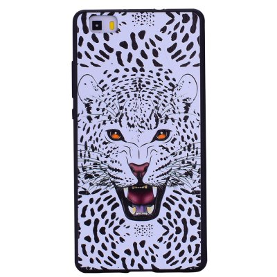 Snow Leopard For Huawei P8 lite Fashion Cartoon Relief Soft Silicone TPU Phone Case For Huawei P8 lite Cover Cases
