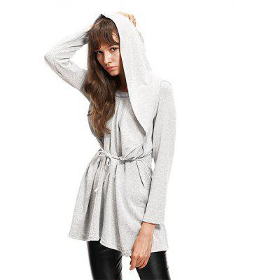 Large-Size Long-Sleeved Loose Hooded SweaterSweaters &amp; Cardigans<br>Large-Size Long-Sleeved Loose Hooded Sweater<br>