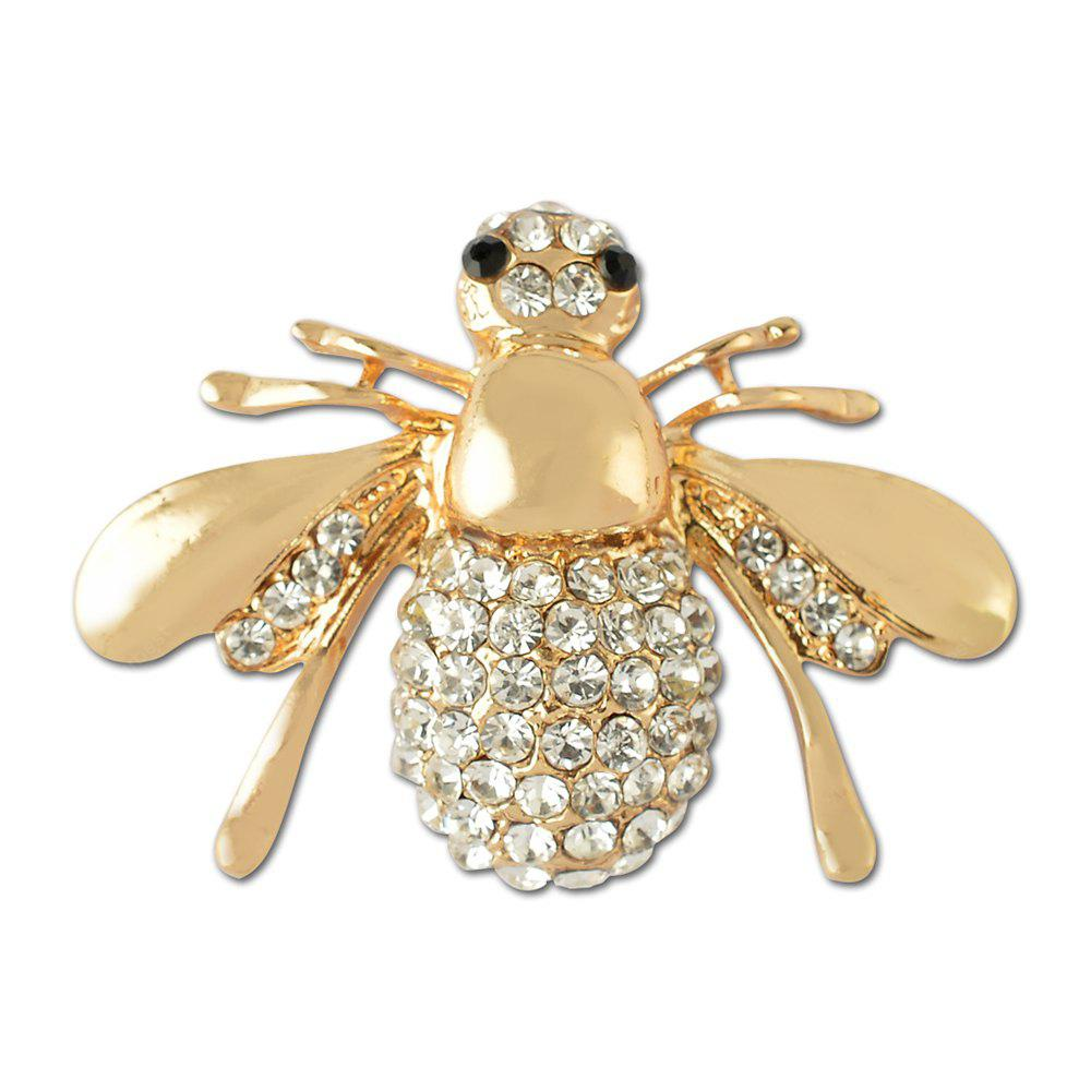 Crystal Lovely Bee Brooch for Woman