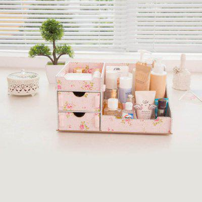 Wooden Desktop Storage Box Cosmetic Storage Rack MTL-M007