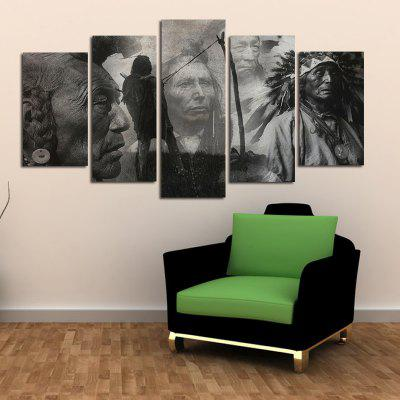 Restro Frameless HD Canvas Art Prints for Home Wall Decoration 5pcs