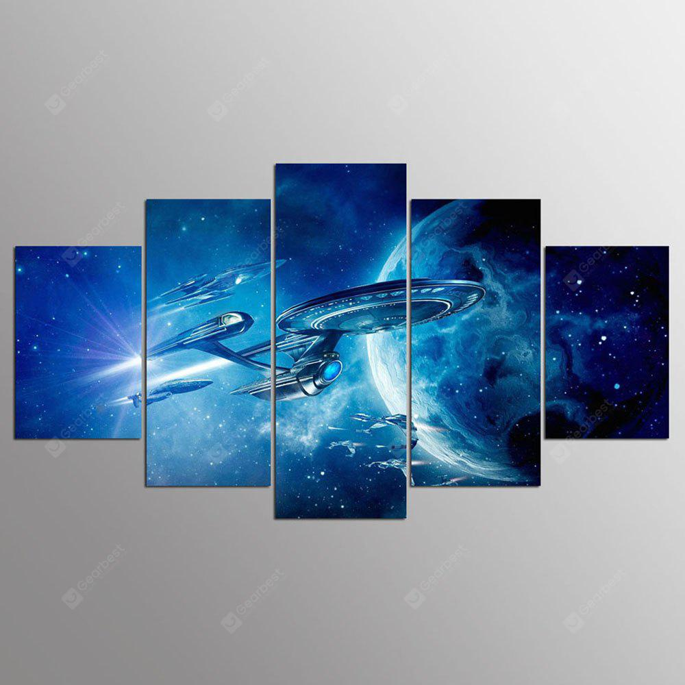 YSDAFEN 5 Piezas Set HD Spray Space Home Decoration Poster Lienzos