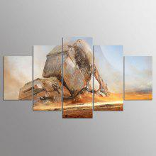 YSDAFEN 5 Pieces Movie Desert Fighter Modern Home Wall Decor Art HD Print For Living Room