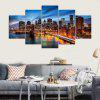 YSDAFEN 5 Panel Modern New York Brooklyn Bridge Canvas Wall Pictures For Living Room - COLORMIX