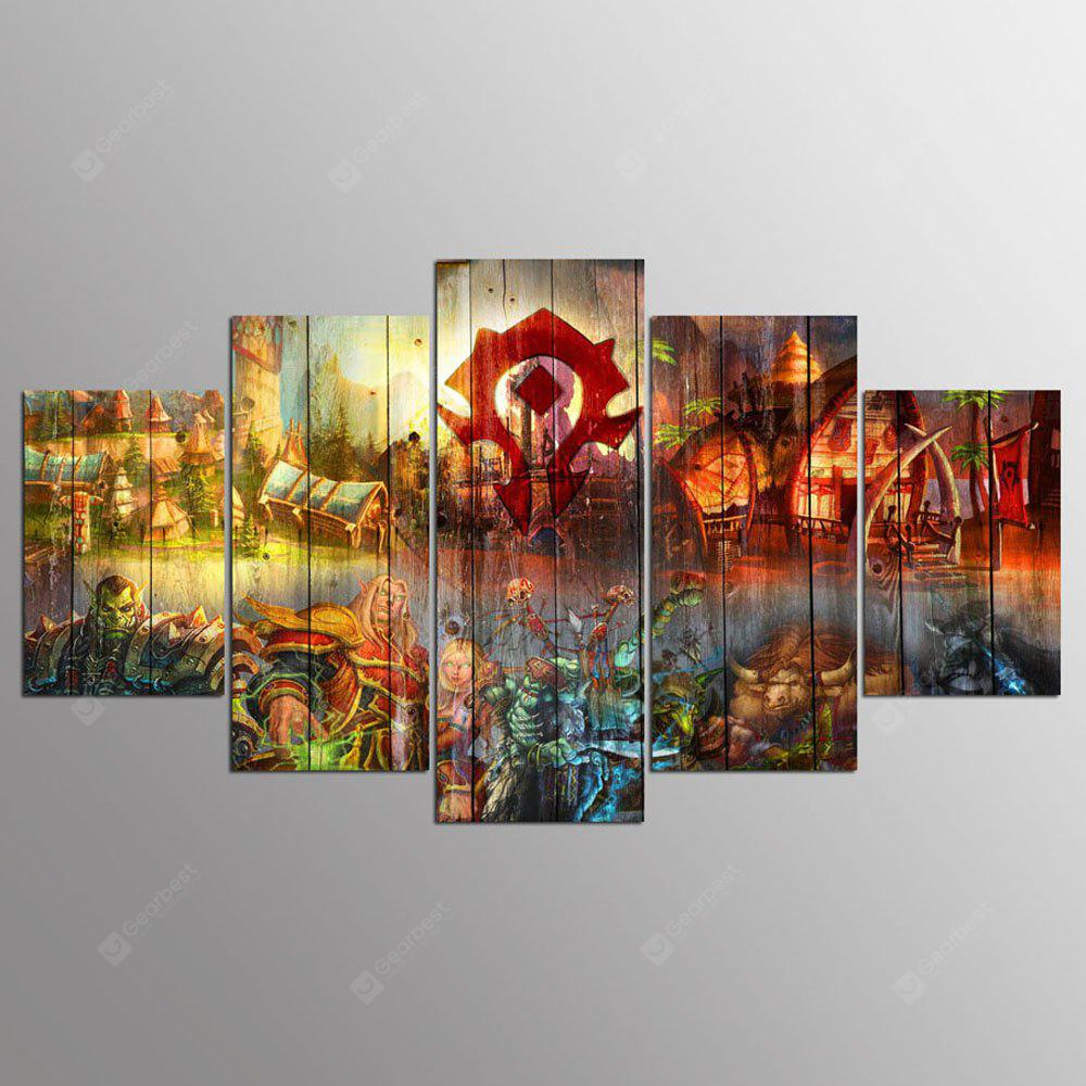 YSDAFEN 5 Panel Hd World of Warcraft Horde pinturas de lona para la sala de estar