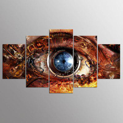 YSDAFEN 5 Panel Hd Moderno Efectos Visuales Art Print Canvas Art para la Sala de estar