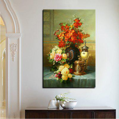 YHHP Canvas High Definition Print European Classical Flowers Art Decoration