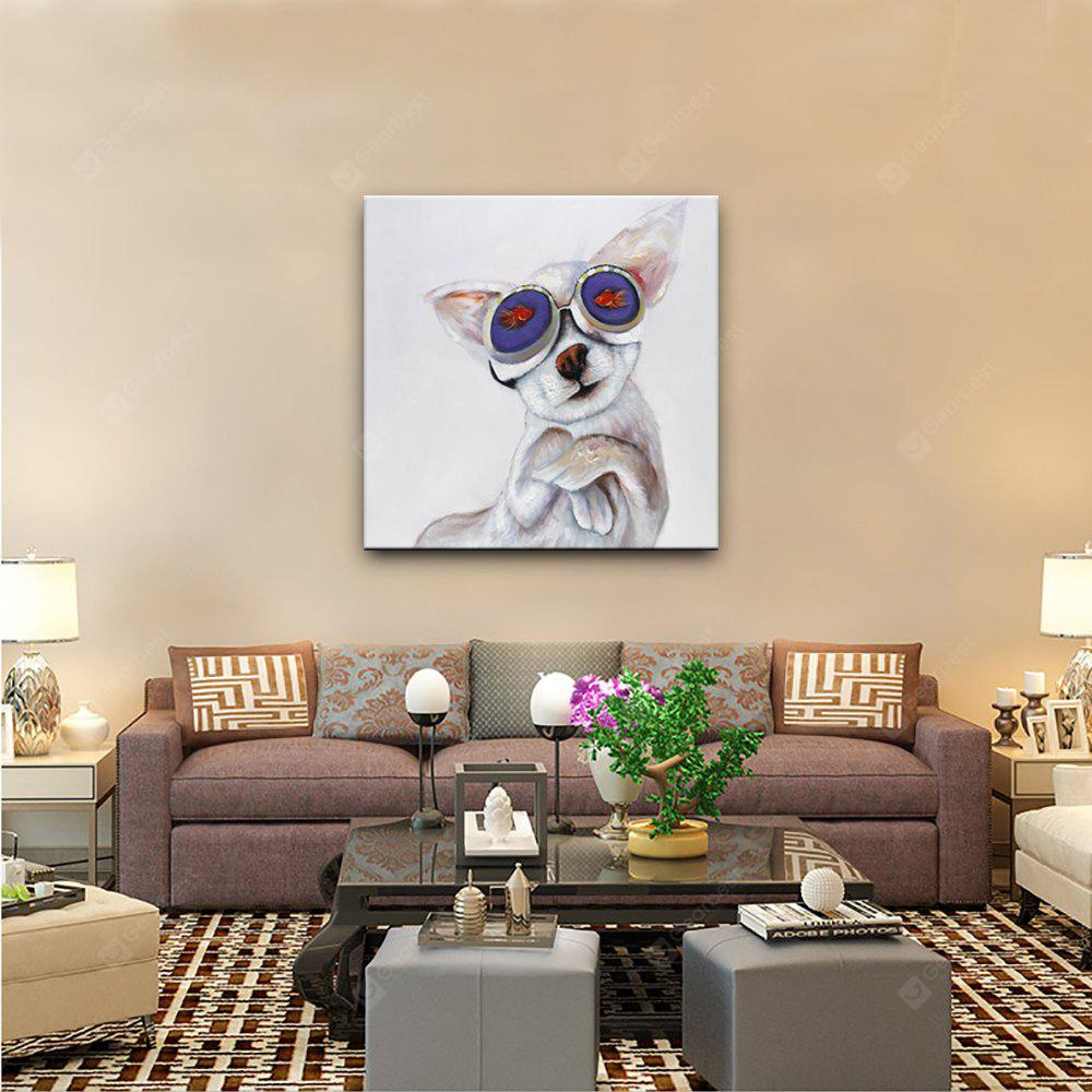 YHHP Hand Painted Animal Cat Eyes Only You Canvas Oil Painting COLORMIX