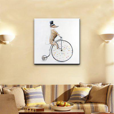 Buy COLORMIX YHHP Hand Painted Animal Canvas Oil Painting Riding Bike Dog for $19.88 in GearBest store