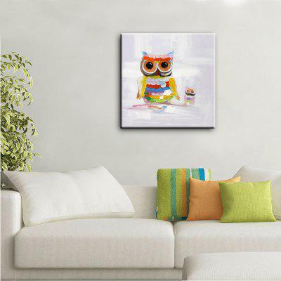 Buy YHHP Hand Painted Animal Canvas Oil Painting The Owl COLORMIX for $41.28 in GearBest store