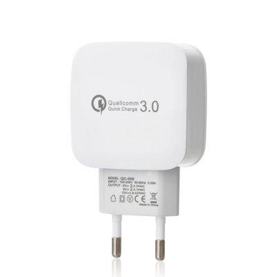 Buy WHITE QC 3.0 5V/3A Quick Charge EU Plug USB Charger / USB Wall Charger for $6.41 in GearBest store
