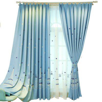 Embroidered Curtain Cartoon curtain  Castle curtain