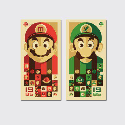 Buy COLORMIX QiaoJiaHuaYuan No Frame Canvas Mario Brothers Group Drawing Sitting Room Bedroom Decoration Painting for $13.24 in GearBest store