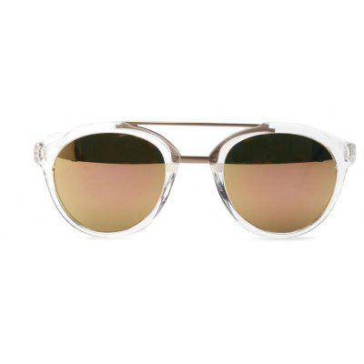 Double - Beam Vintage Sunglasses Male and American Pop Large Frame Sunglasses Female