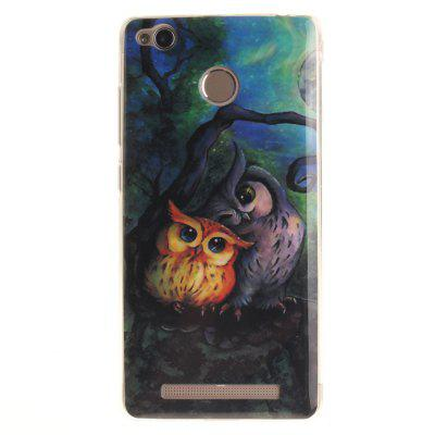 Oil Painting Owl Soft Clear IMD TPU Phone Casing Mobile Smartphone Cover Shell Case for Xiaomi Redmi 3X 3S 3PRO