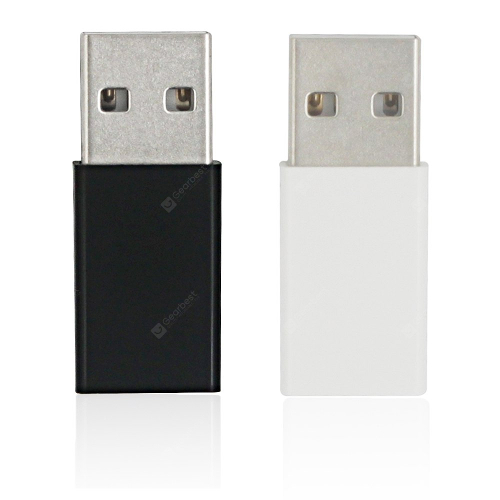 Minismile 2PCS ABS USB 3.1 Type C Female to USB 3.0 A Male Data Charging Extension Adapter for Phone / MACBOOK