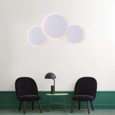 Modern Style LED Wall Lamp White Metal Circular Lamp Combination  Indoor for Bedside Lamp  Dining  Bedroom Living  Room