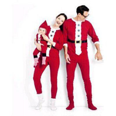 Christmas Atmosphere Santa Claus Style Home Pajamas