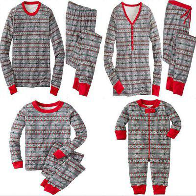 Grey Snow Christmas Atmosphere Home Pajamas
