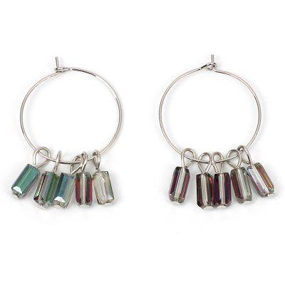 Boucles d'Oreilles en Cristal Large Ring Ethnic Circle Accessories