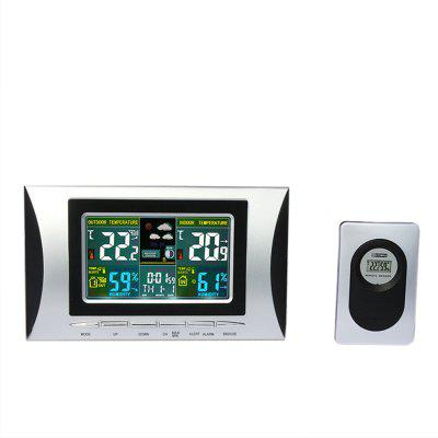 XY - TQ1 Multifunctional Wireless Indoor Temperature and Humidity Meter Color Weather Dual Alarm Clock
