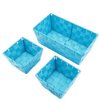Durable Trapezoid Woven Nylon Storage Basket Garden Fabric for Storing Fruit Snacks and Sundries 3 pcs