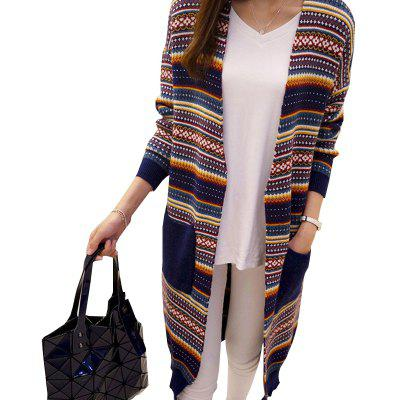 Natioanl Style Long Knit Cardigan