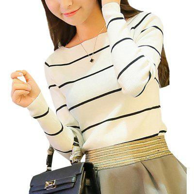 Stripe Raglan Sleeve Knit Primer Shirt