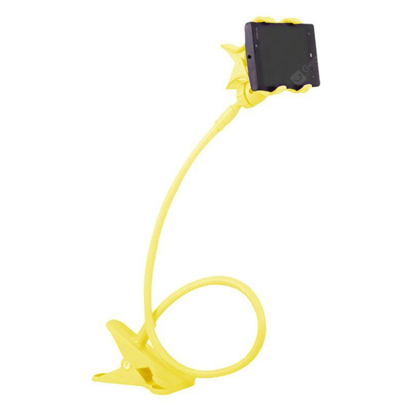 Hot Sale Fashion 360 Degree Roating Flexible Phone Holder Stand Mobile Long Arm Holder Bracket Support Bed YELLOW