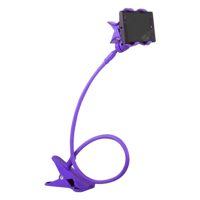 Hot Sale Fashion 360 Degree Roating Flexible Phone Holder Stand Mobile Long Arm Holder Bracket Support Bed PURPLE